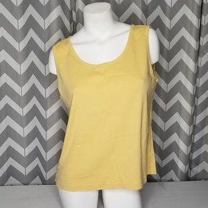 ADDITIONS By Chicos yellow racerback tanktop